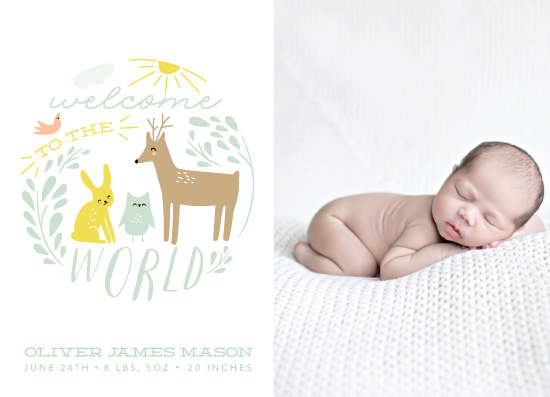 birth announcements - Welcome Sweet Baby by Angela Thompson