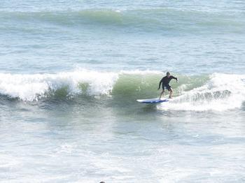 Rincon Beach Surfer