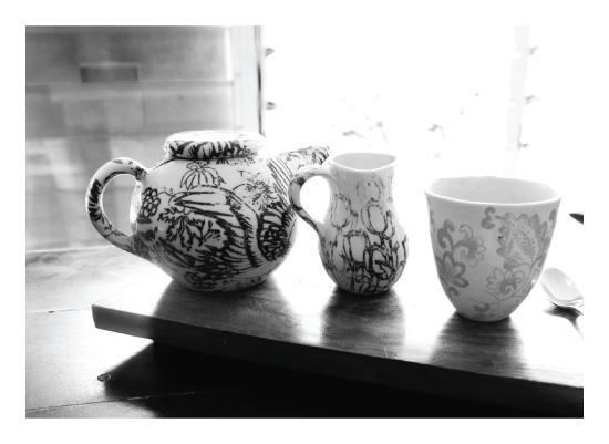 art prints - chinese ceramic by clara catharina