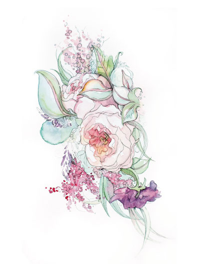 art prints - RunawayBouquet by Kelly Marie Johnson