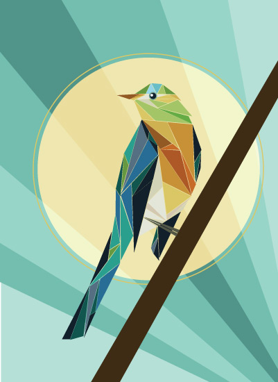 art prints - Geometric Bird by LoveLight Paper