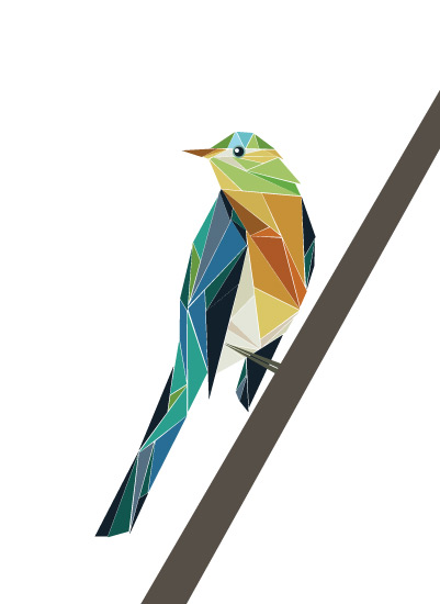 art prints - Geometry Bird by LoveLight Paper
