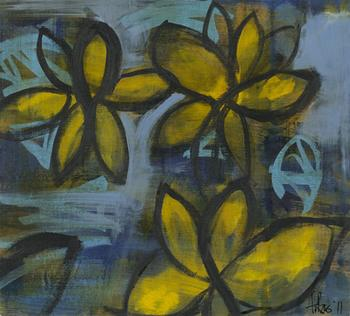 Blue and Yellow  Flowers Series 2
