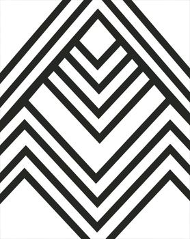 Geometric abstract stripes