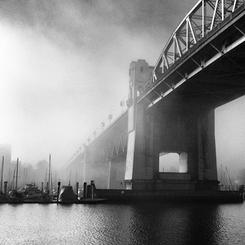 Misty Burrard Bridge