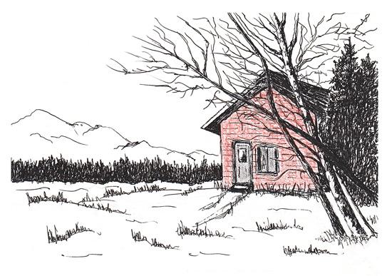 art prints - Mountain Cottage by Amanda Bush