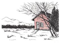 Mountain Cottage by Amanda Bush