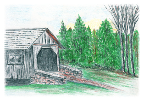 art prints - Covered Bridge by Amanda Bush