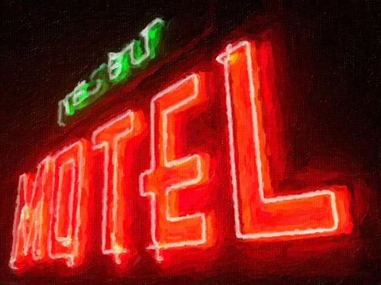 art prints - neon motel by jen lange