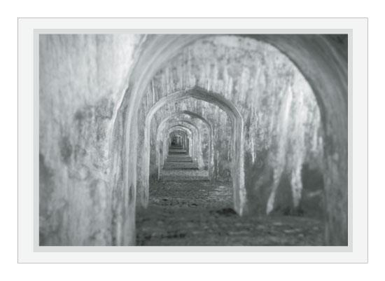 art prints - San Juan de Ulúa Arches by C Weller