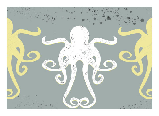 art prints - Octopus Trio by Leah Mowry