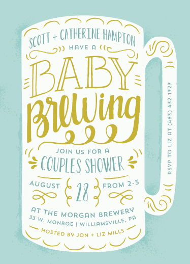 baby shower invitations - Baby Brewing by Laura Hankins