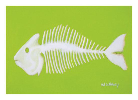 art prints - Internal Beauty Fishbones by JJ Galloway Studio