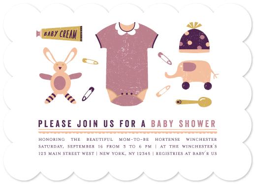 baby shower invitations - petit trousseau by Bonjour Paper