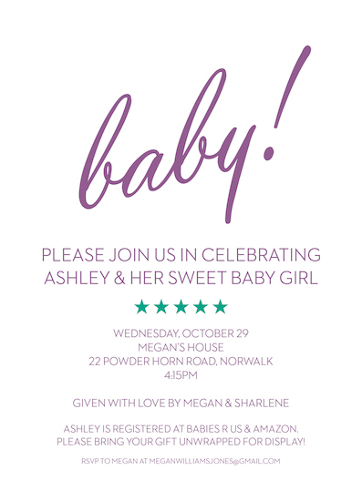 baby shower invitations - Baby! by Alison Greenspon