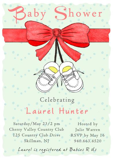 baby shower invitations - White Baby Shoes by Amanda Bush