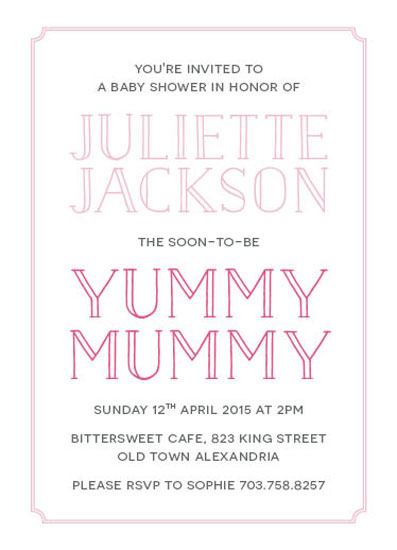 baby shower invitations - Yummy Mummy by Chloe Welbaum