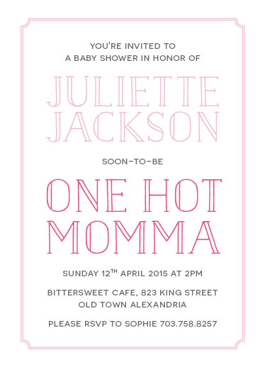 baby shower invitations - One Hot Momma by Chloe Welbaum