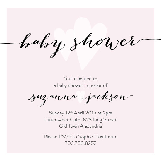 baby shower invitations - Two Hearts by Chloe Welbaum