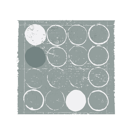 art prints - Round Pegs in Square Holes by Ria Sharon