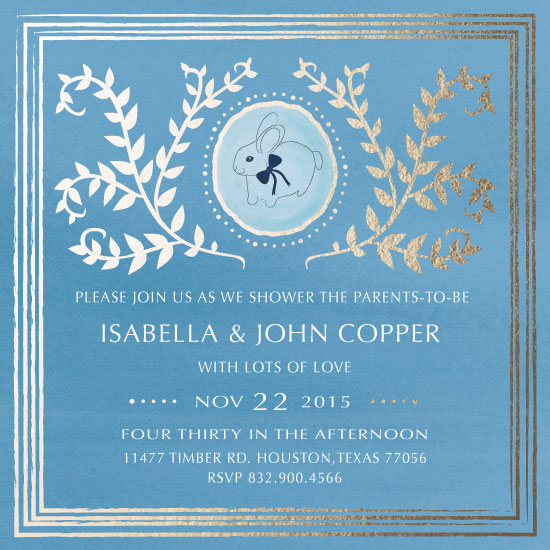 baby shower invitations - Hopping With Lots of Love by eb