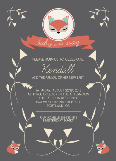 baby shower invitations - Little Fox by Lisa McLean
