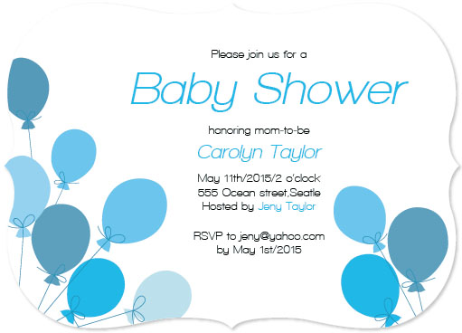baby shower invitations - Baby blue by Viara Trendafilova