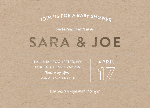 baby shower invitations - Linear Shine by Ilana Griffo