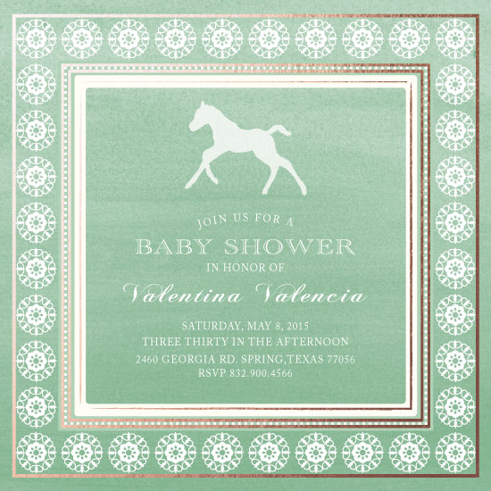 baby shower invitations - Galloping with Lots of Love by eb