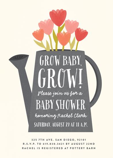 baby shower invitations - Grow baby, grow! by Erica Krystek