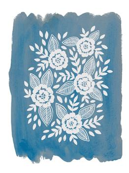 Watercolor Folk Florals