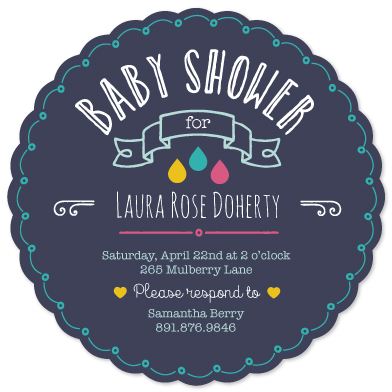 baby shower invitations - doodles by Louise Trainor