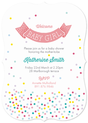 baby shower invitations - Candy confetti by Louise Trainor