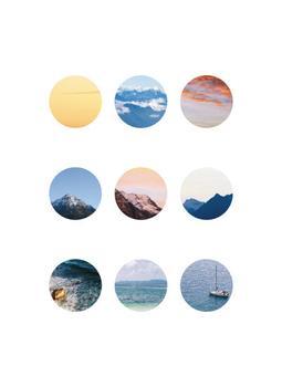 of sea, mountain and sky