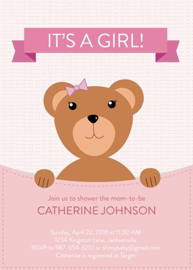 baby shower invitations - Baby Bear by Onysia Kolesnikova