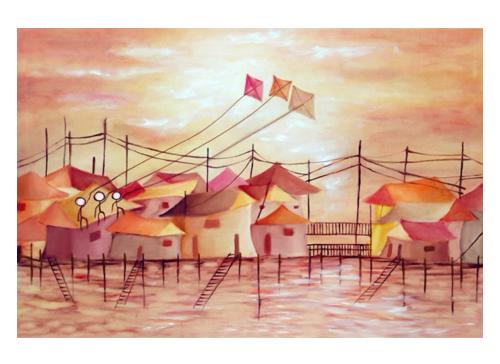 art prints - Fly a Kite by Kristen Panlilio