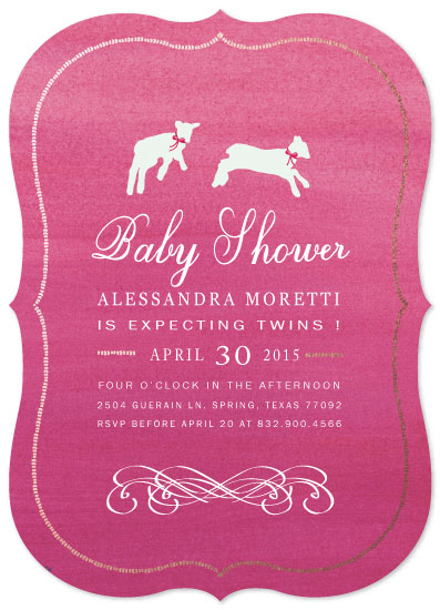 baby shower invitations - Jumping with Lots of  Love by eb