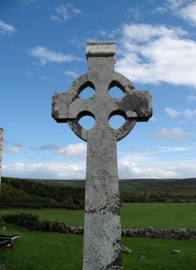 art prints - Celtic Cross in field by Richard Coble