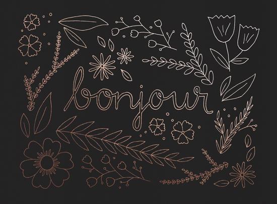 art prints - Bonjour by Chrissy C