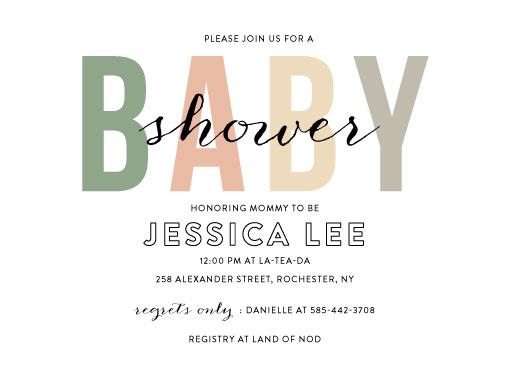 baby shower invitations - Boho Baby by Ilana Griffo