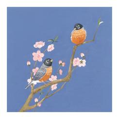 Robins and Cherry Blossoms