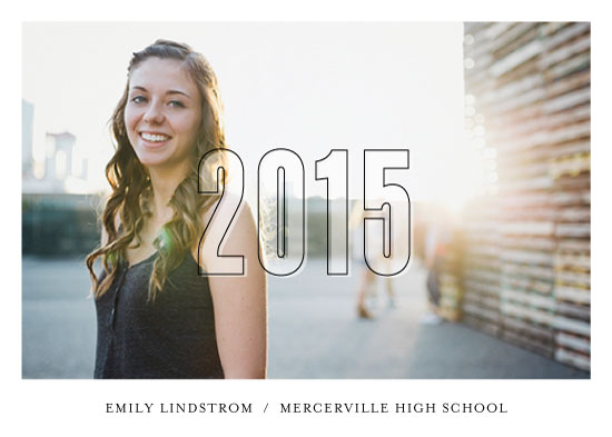 graduation announcements - Frosted Year by Sandra Picco Design