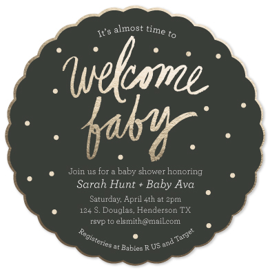 baby shower invitations - Welcome Baby by Rachael Schendel