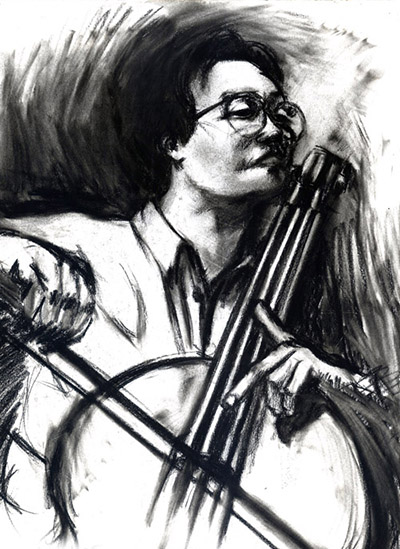 art prints - The Cellist by Kristen Panlilio