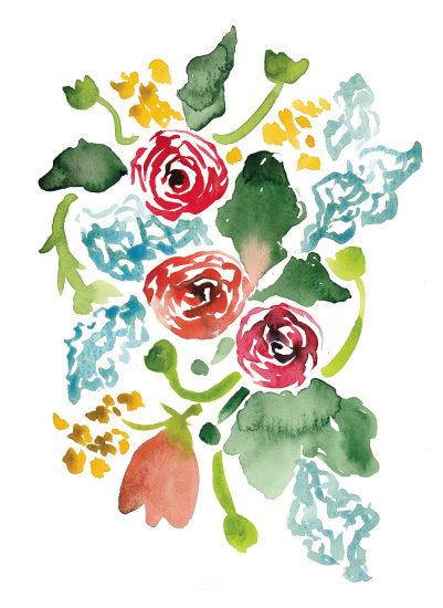 art prints - Ra Ra Rose by Sara Berrenson