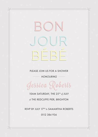 baby shower invitations - Bonjour Bébé by Chrissy C