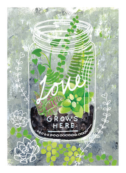 art prints - Love Grows Here by Ming Platt