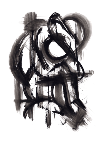 art prints - Black Brush Study No. 1 by Hooray Creative