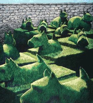 Topiary Dogs and Cats