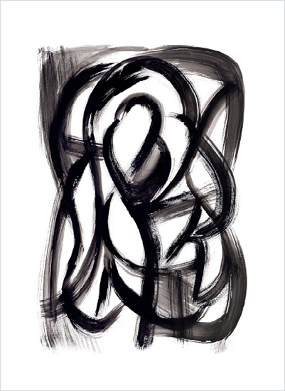 art prints - Black Brush Study No. 2 by Hooray Creative
